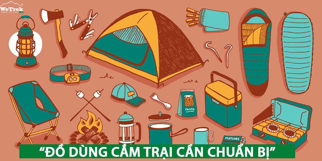 Những đồ dùng cần chuẩn bị khi đi cắm trại ahalong.com