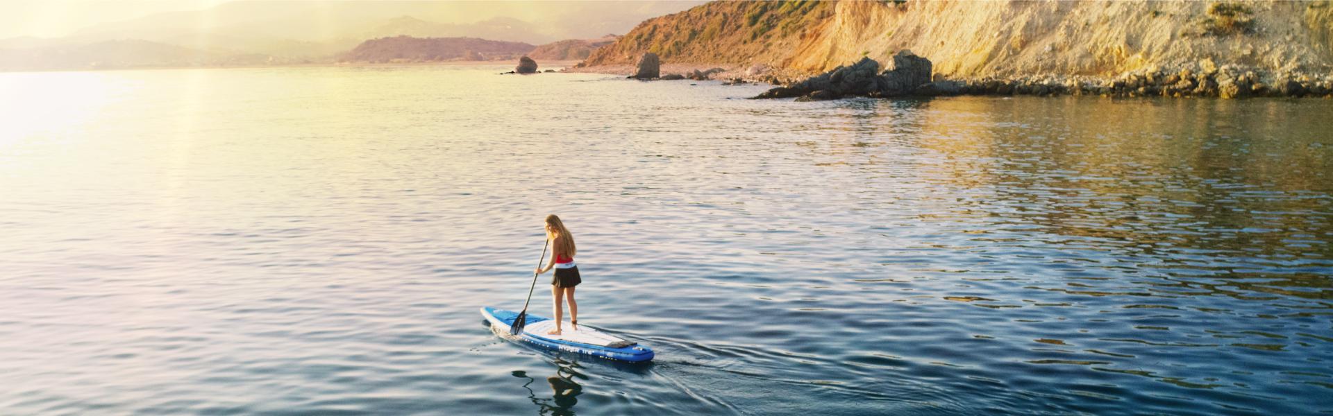 """Ván chèo đứng bơm hơi Aqua Marina  HYPER 12'6"""" SUP"""