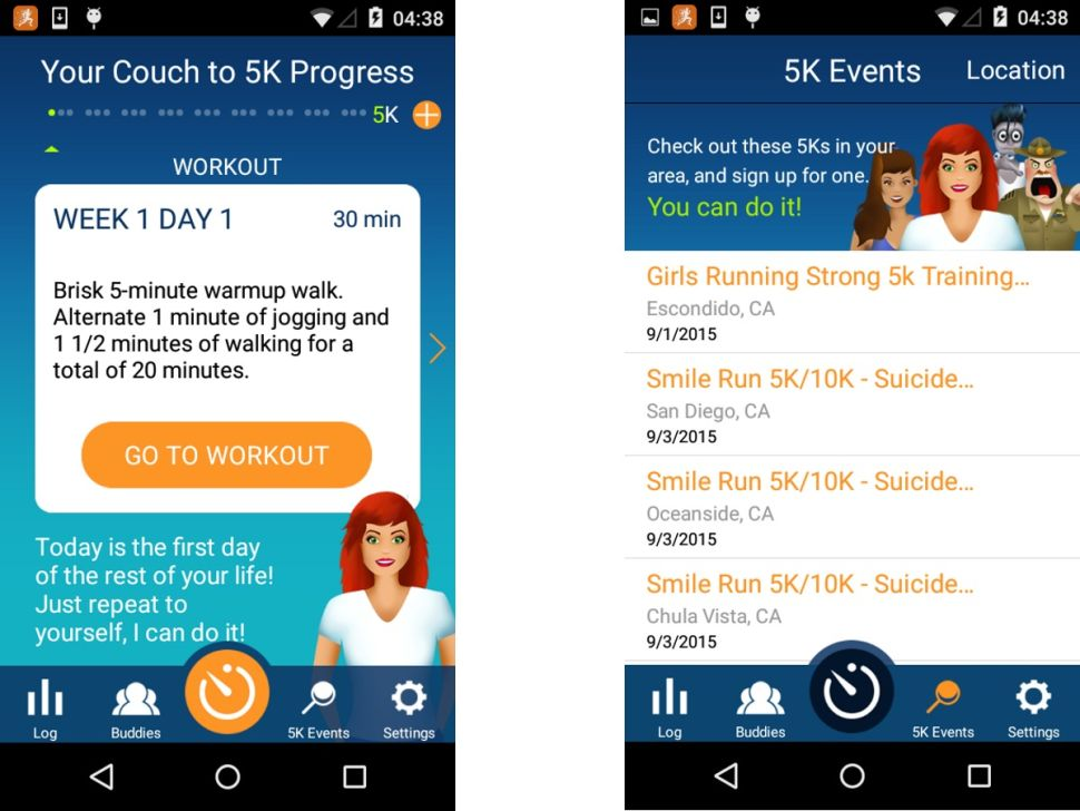 App chạy bộ Couch to 5K
