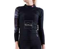 Áo bơi chống nắng nữ Illusion Womens Rashguard LS C-W17LS-BK - 7683