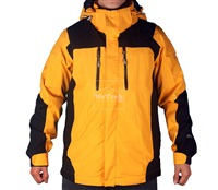 Áo khoác gió 2 lớp TNF Button - 6275 Vàng cam đen