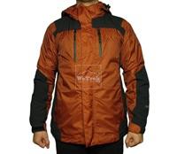 Áo khoác gió 2 lớp TNF Velcro - 6318 Nâu cam đen