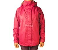 Áo khoác gió nữ 2 lớp TNF Button - 6228 Hồng đậm