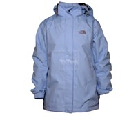Áo khoác gió nữ 2 lớp TNF Button - 6229 Xanh dương nhạt