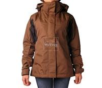 Áo khoác gió nữ 2 lớp TNF Button - 6270 Nâu đen