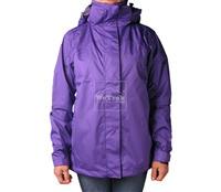 Áo khoác gió nữ 2 lớp TNF Button - 6272 Tím