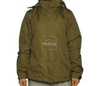 Áo khoác gió nữ 2 lớp TNF Button - 6317 Xanh olive