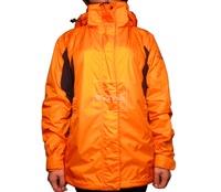 Áo khoác gió nữ 2 lớp TNF Button - 6659 Cam đen