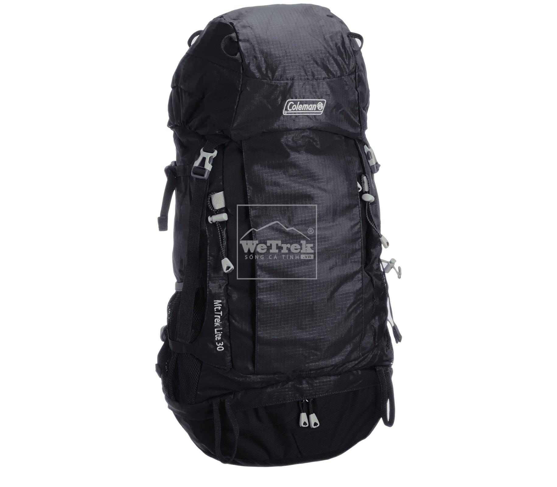 Ba lô leo núi 30L Coleman Mt. Trek Lite Backpack Black CBB4071BK - 7457