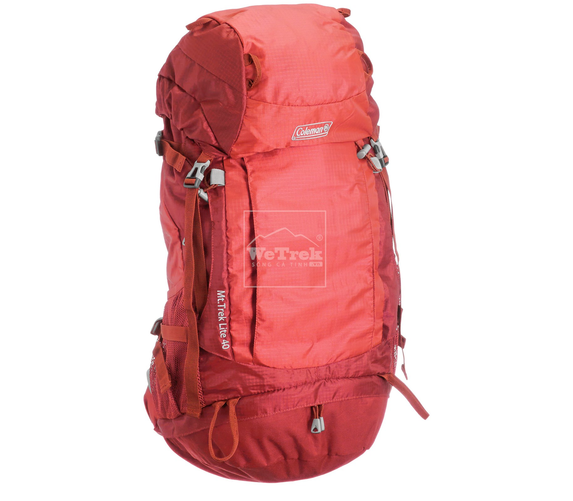 Ba lô leo núi 40L Coleman Mt. Trek Lite Backpack Red CBB4091RD - 7456