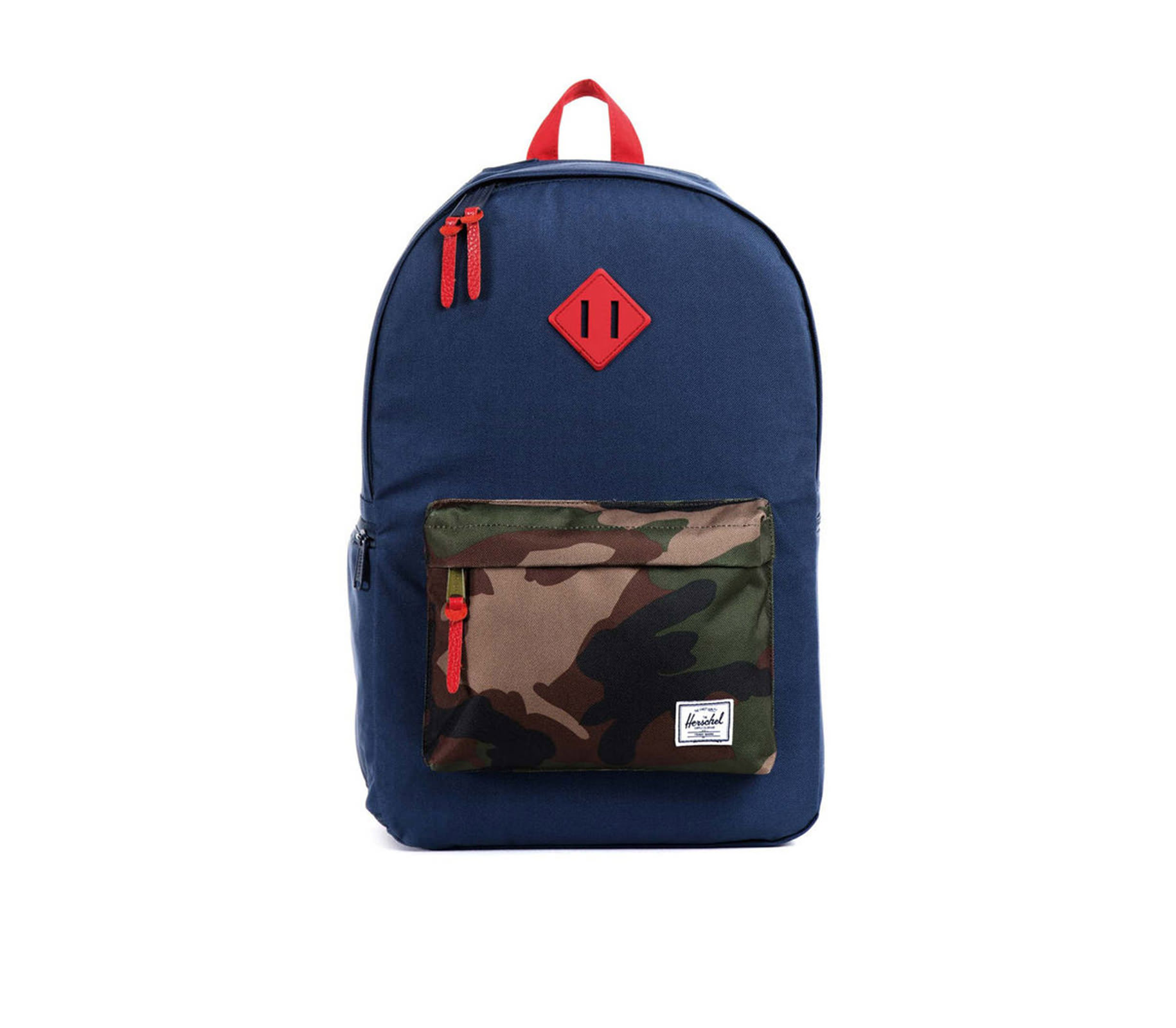 Balo du lịch HERSCHEL Heritage Plus Navy/Woodland Camo/Red Rubber