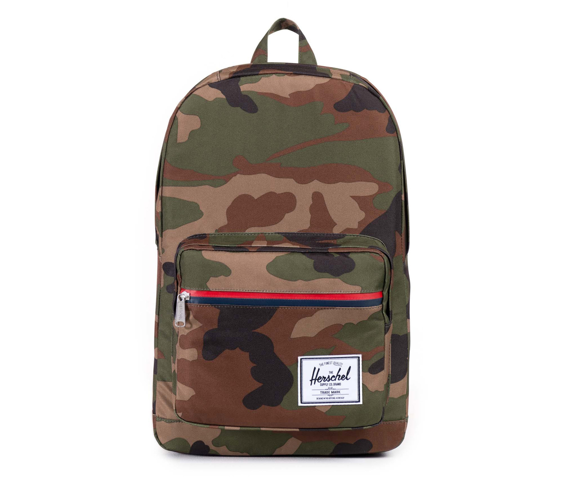 Balo du lịch HERSCHEL Pop Quiz Woodland Camo/Multi Zip/Tan Pebble Leather