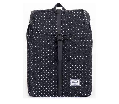 Balo du lịch HERSCHEL Post Backpack Mid Volume Black/White Polka Dot