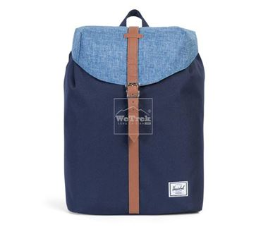 Balo du lịch HERSCHEL Post Backpack Peacoat/Limoges Crosshatch/Tan Synthetic Leather 10021-01150-OS - 7853