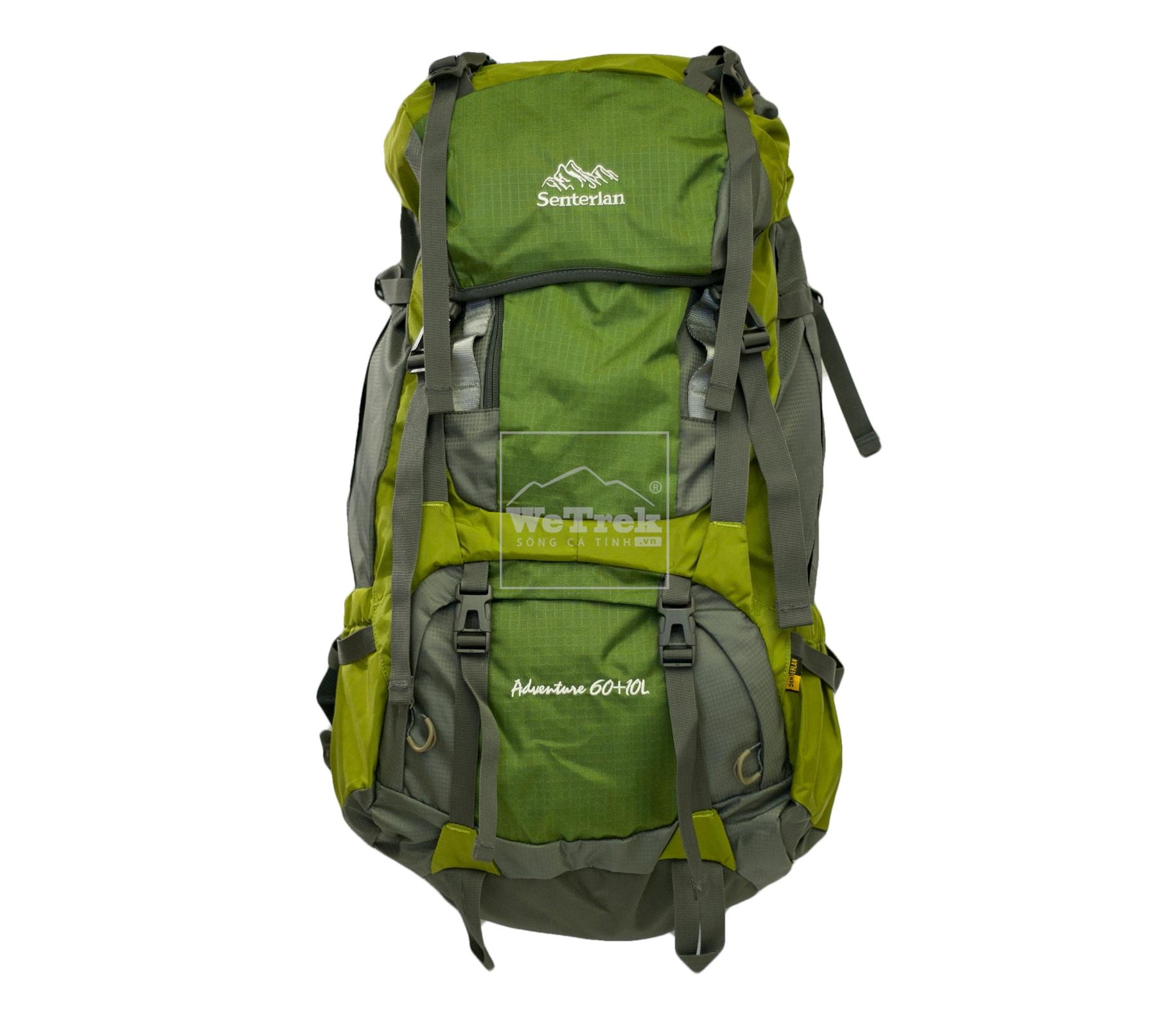 Balo leo núi 60L+10 Senterlan Adventure S2258 - 8431 Xanh lá