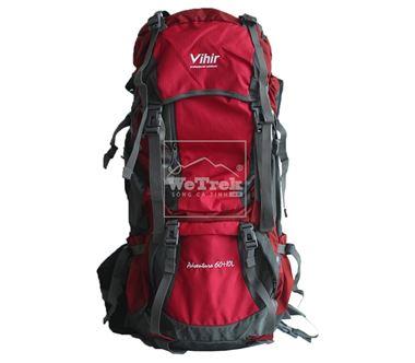 Balo leo núi 60L+10Vihir Adventure - 9261 Đỏ