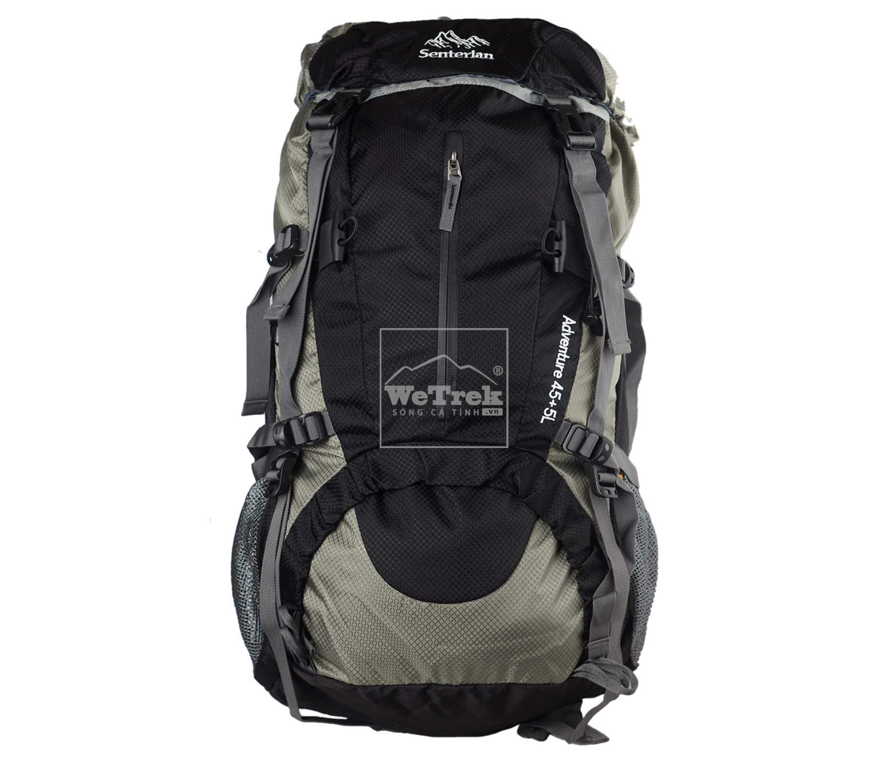 Balo leo núi Senterlan Adventure 45+5L S1009 Black - 5695