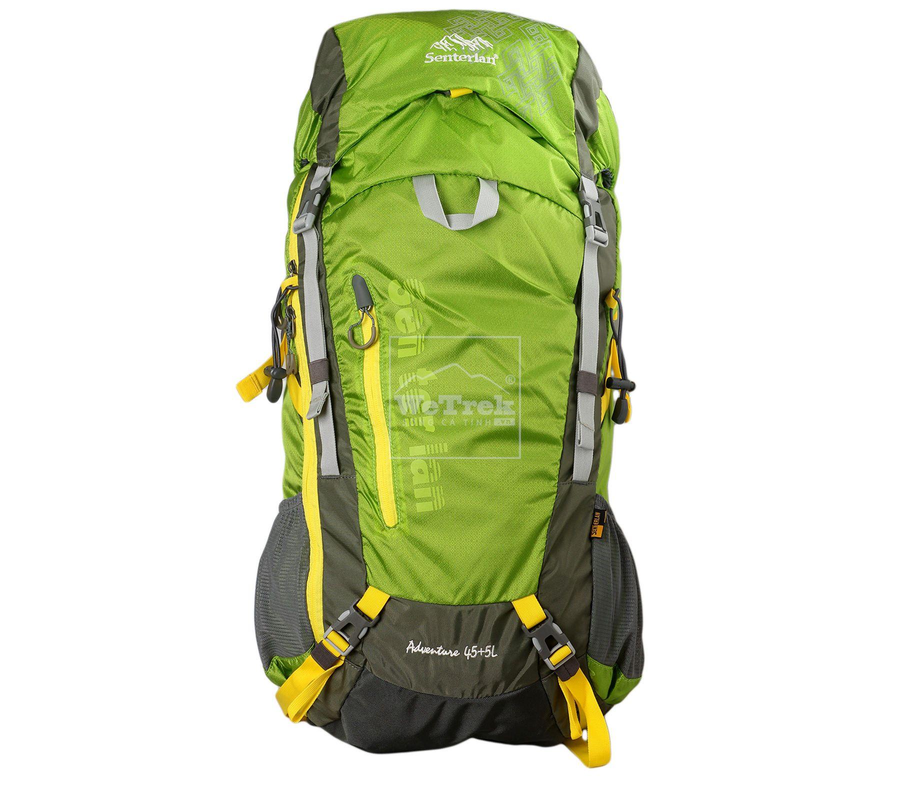 Balo leo núi Senterlan Adventure 45+5L S2375 Green - 5690