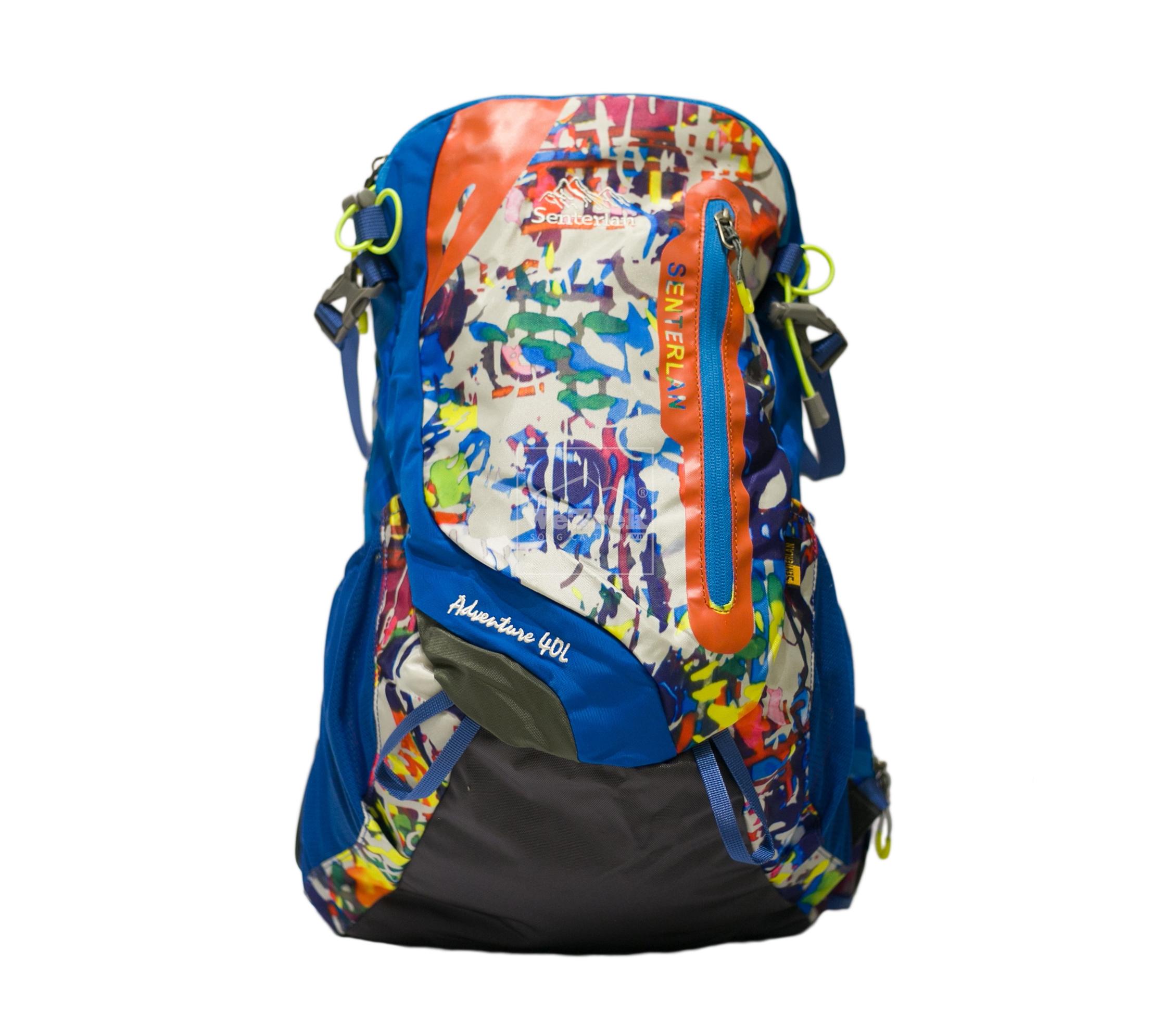 Balo leo núi Senterlan Adventure S2951 - 8454 Họa tiết xanh dương
