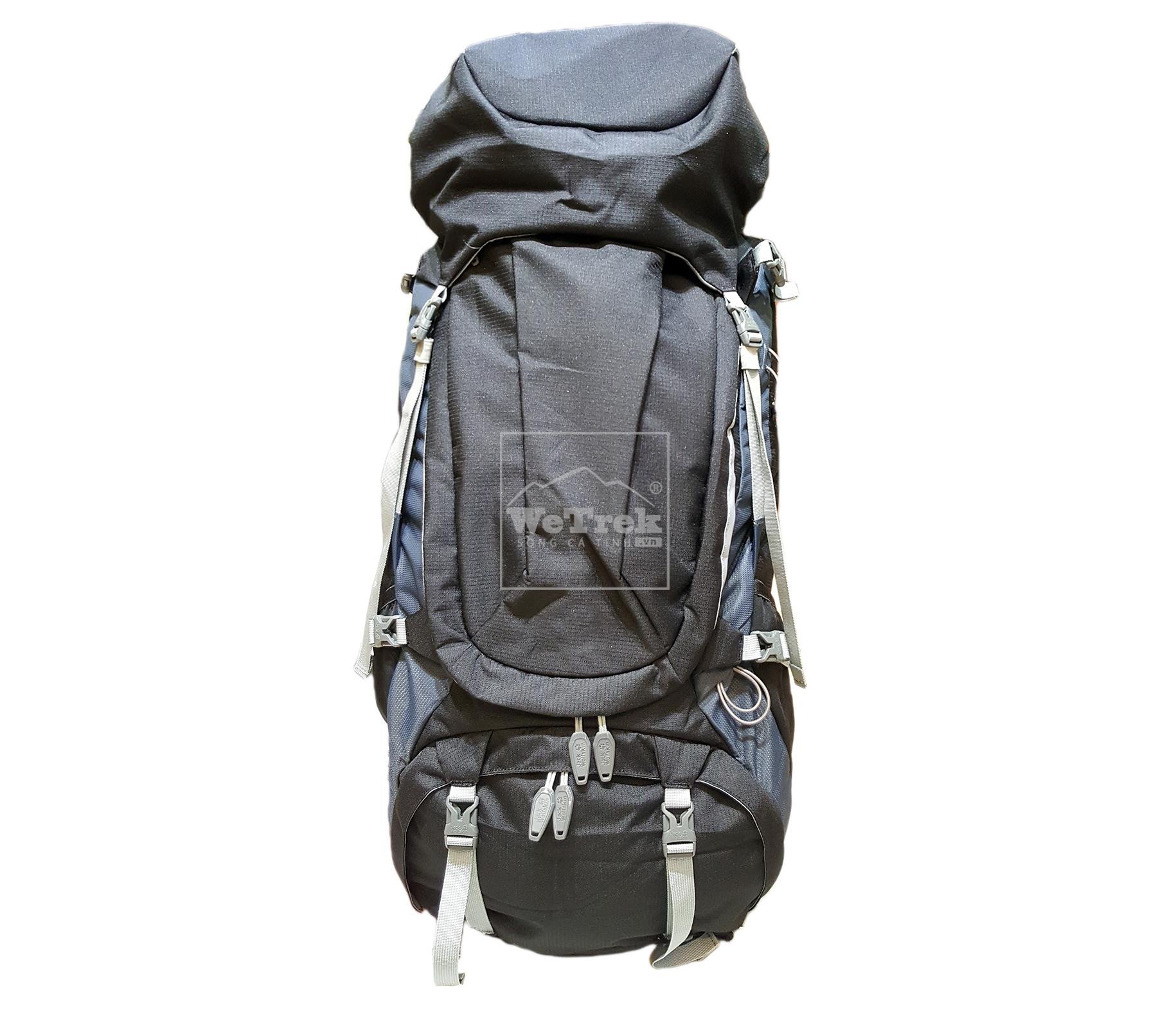 Balo leo núi VNXK JW Denali 55L Black - 7542