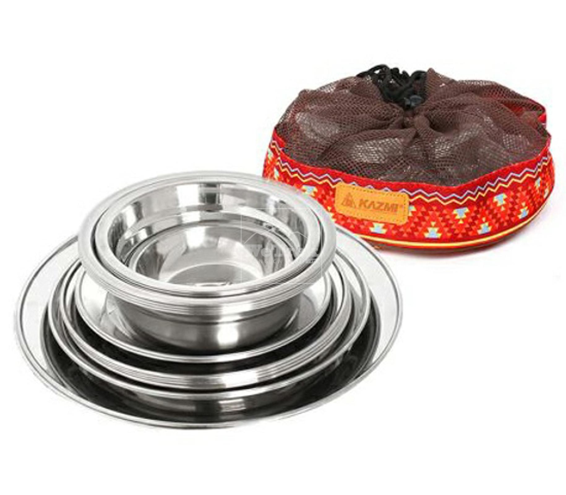 Bộ 22 bát đĩa cắm trại Kazmi K4T3K001 - 9438