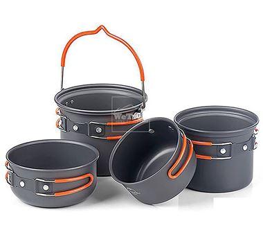 Bộ nồi dã ngoại Naturehike Outdoor Camping Cookware NH18T018-G - 9673