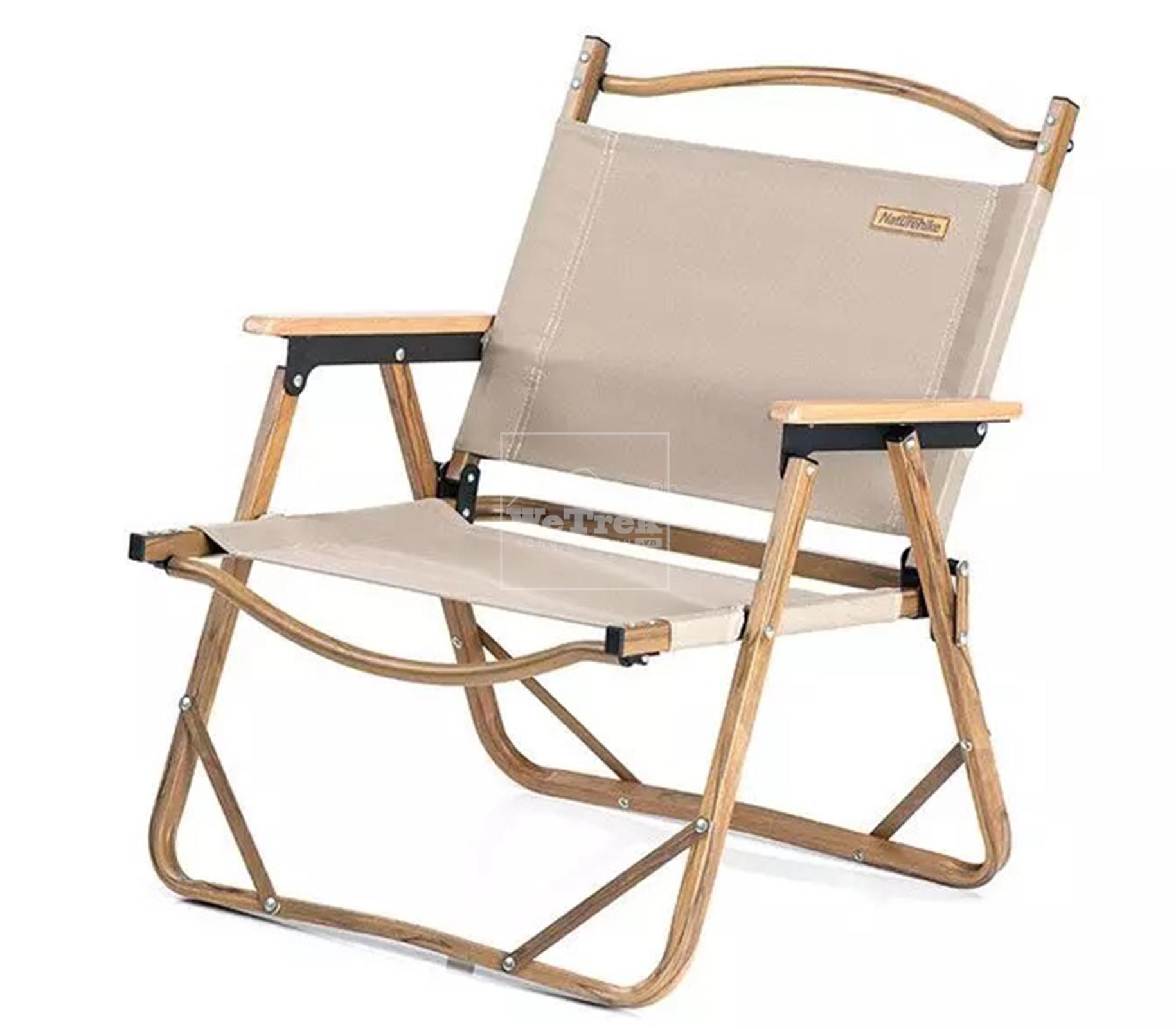 Ghế xếp có tựa lưng khung vân gỗ Naturehike Portable Outdoor Folding Chair NH19Y002-D - 9520