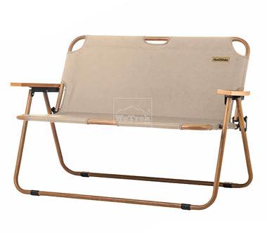 Ghế xếp đôi có tựa lưng khung vân gỗ Narturehike Double Folding Chair NH20JJ002 - 9529