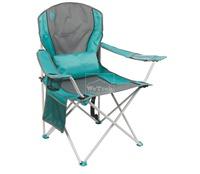 Ghế xếp tay tựa có đệm lưng Coleman Lumbar Quad Chair Teal 2000019204 - 7416
