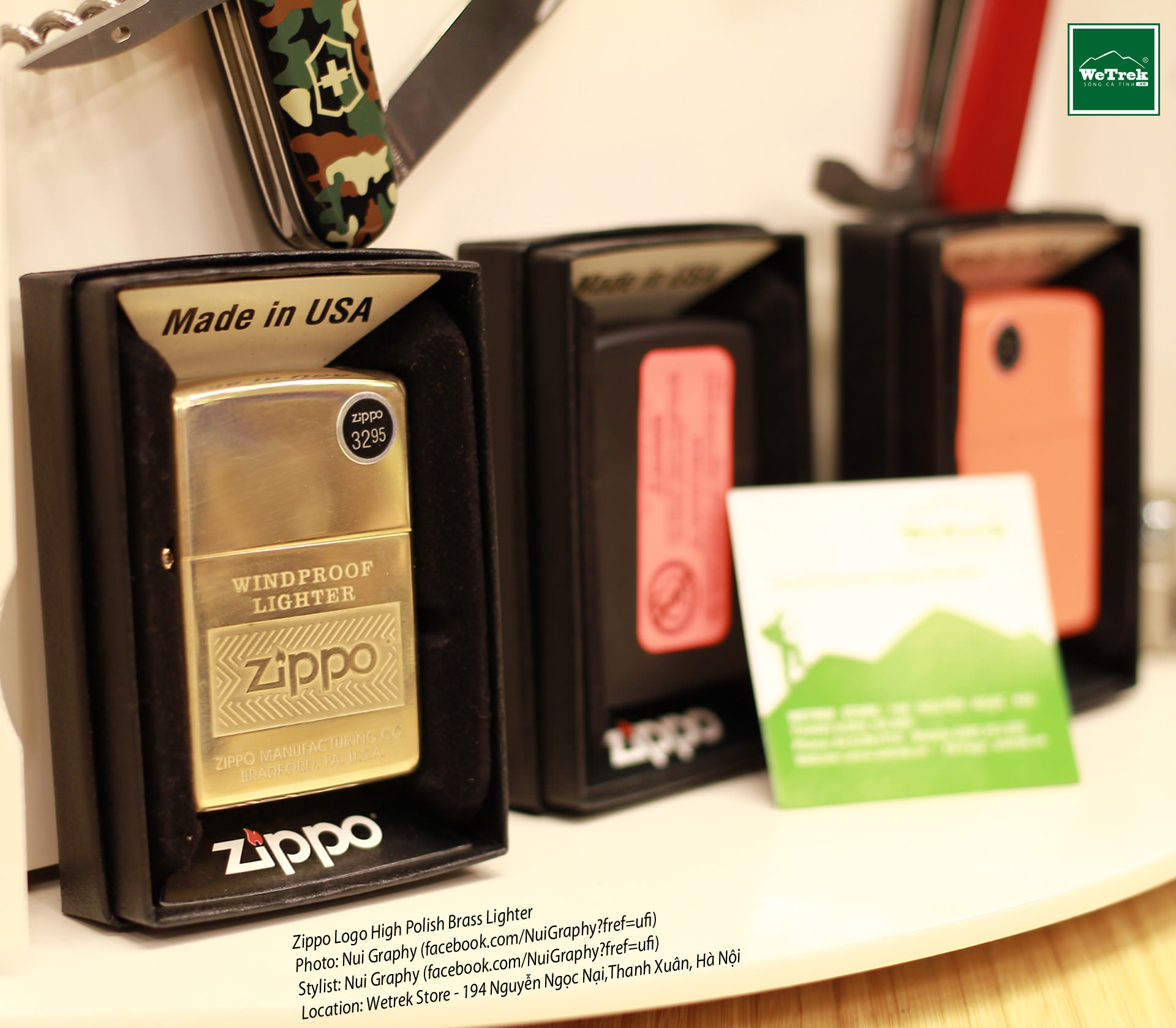 Zippo Logo High Polish Brass Lighter
