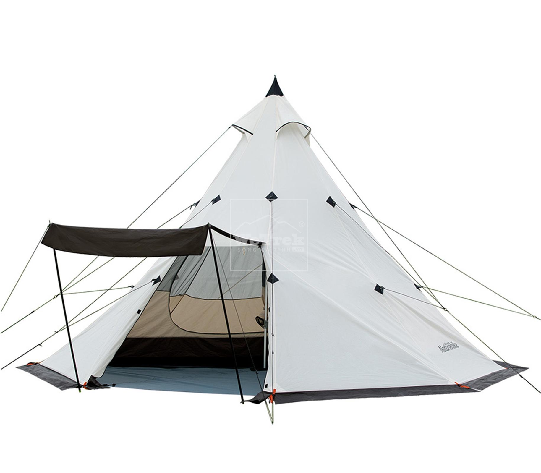 Lều cắm trại 8 người Naturehike Foldable Waterproof Double Layer Pyramid Tent NH17T200-L