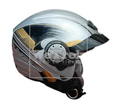 Mũ bảo hiểm xe máy GIVI TECNO Metallic Silver - H104VG730NL
