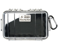 Hộp đựng chống nước Pelican 1050 Black Clear Micro Case with Clear lid and Carabiner