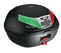 Thùng sau xe máy GIVI E350N - 99C Flow Italian Style - Đen