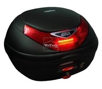 Thùng sau xe máy GIVI E350N-S Flow có đèn - Đen