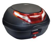 Thùng sau xe máy GIVI E350RN-S3 Flow có đèn - Đen