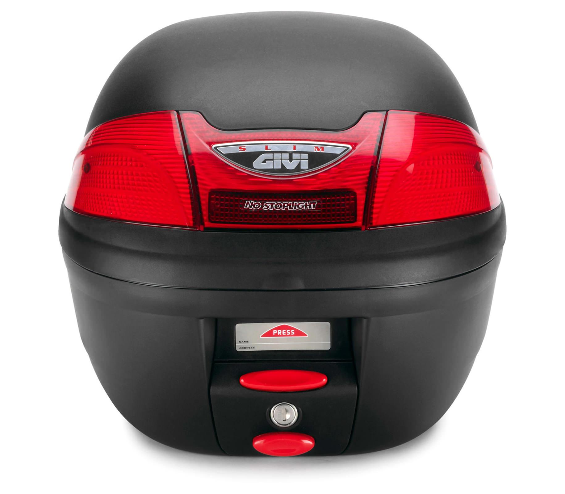 Thùng sau xe máy GIVI E230N Slim - Đen
