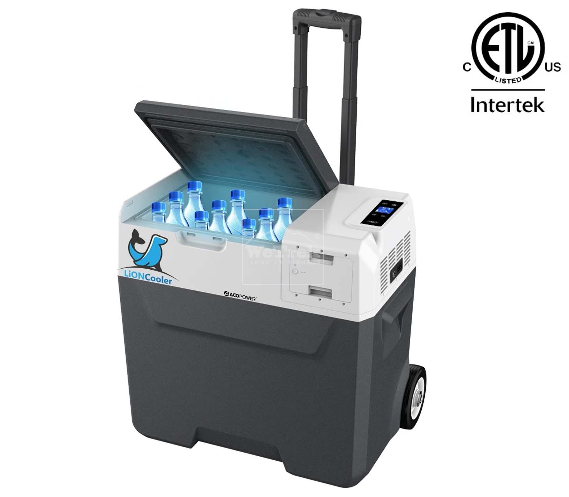 Tủ lạnh di động năng lượng mặt trời có tay xách ACOPOWER 50L LionCooler X50A Portable Solar Fridge Freezer - 9393