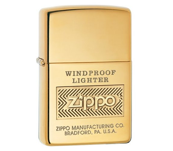 Bật lửa Zippo Logo High Polish Brass Lighter