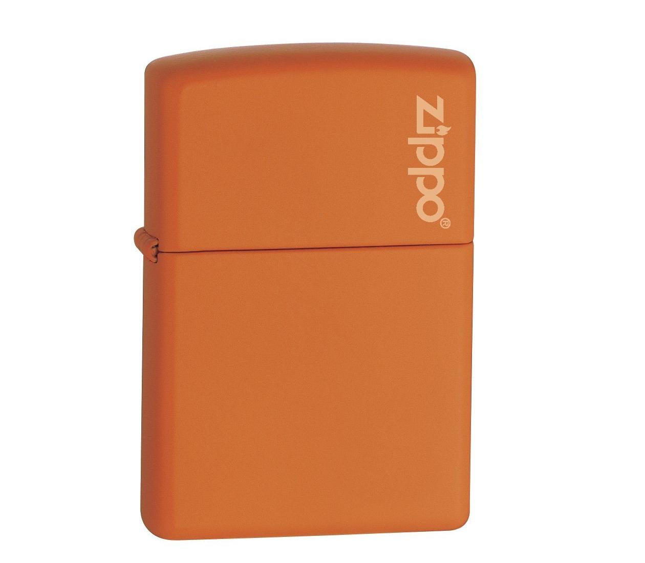 Bật lửa Zippo Orange Matte Lighter with Zippo logo