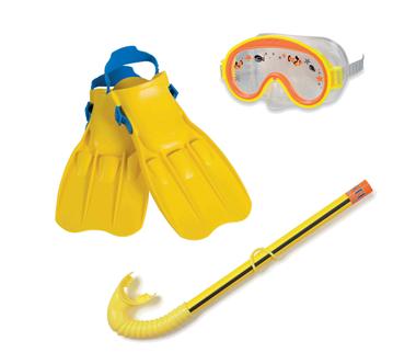 Bộ kính bơi chân vịt ống thở trẻ em INTEX 55951