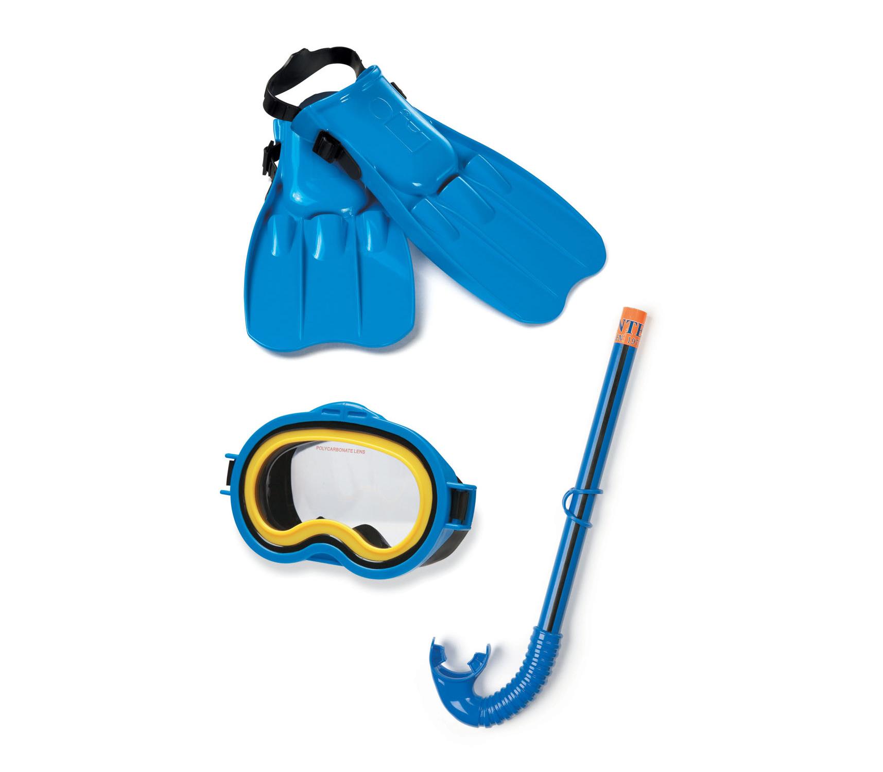 Bộ kính bơi chân vịt ống thở trẻ em INTEX 55952